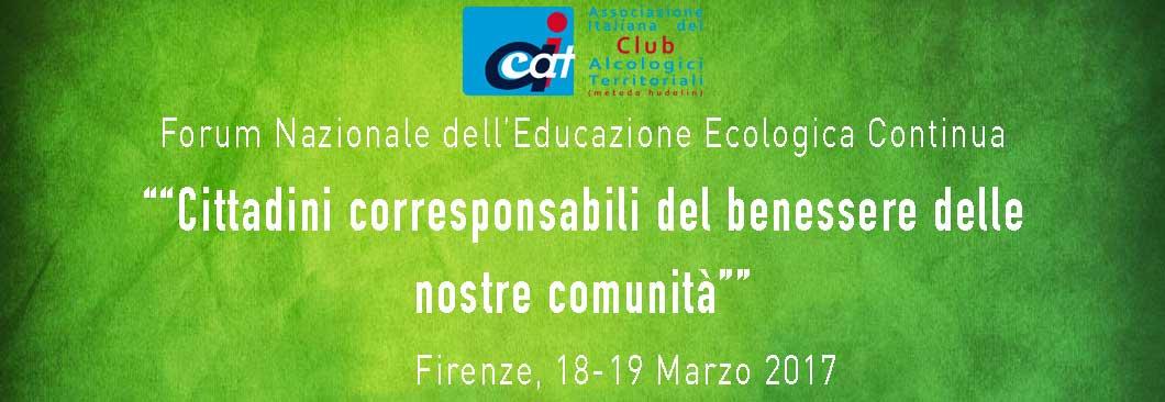 """Forum E.E.C. - """"Cittadini corresponsabili del benessere delle nostre comunità"""""""