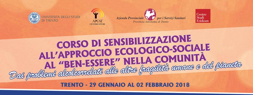 Corso di sensibilizzazione – dal 29 gennaio al 3 febbraio, Trento